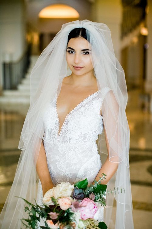 Beautiful Bride in Lace  Anna Georgina Wedding Dress