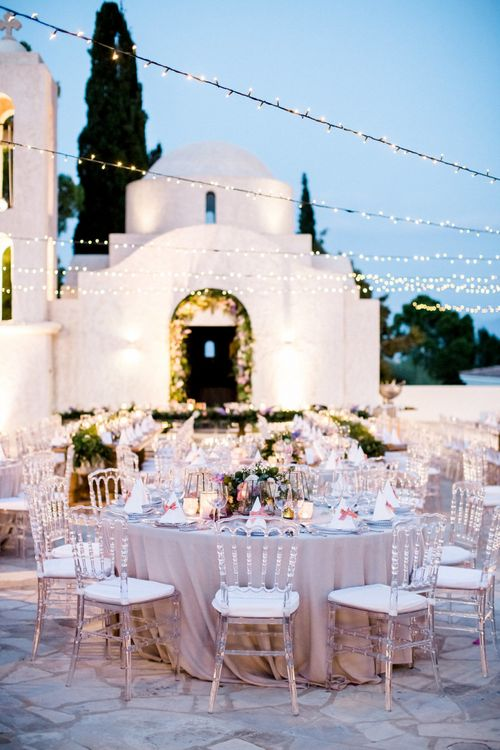 Al Fresco Reception with Fairy Lights Canopy