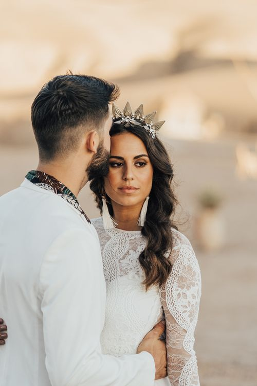 Beautiful bride with natural wedding makeup