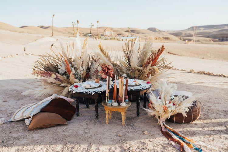 Moroccan themed intimate wedding breakfast