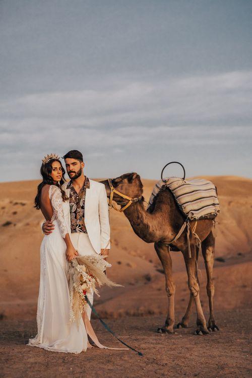 Bride and groom at Moroccan wedding