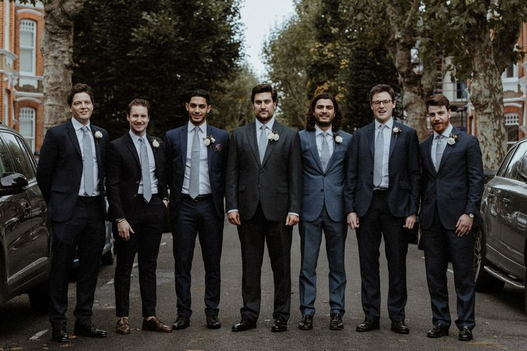 Groomsmen In Moss Bros. Suit // Image By Olivia & Dan Photography