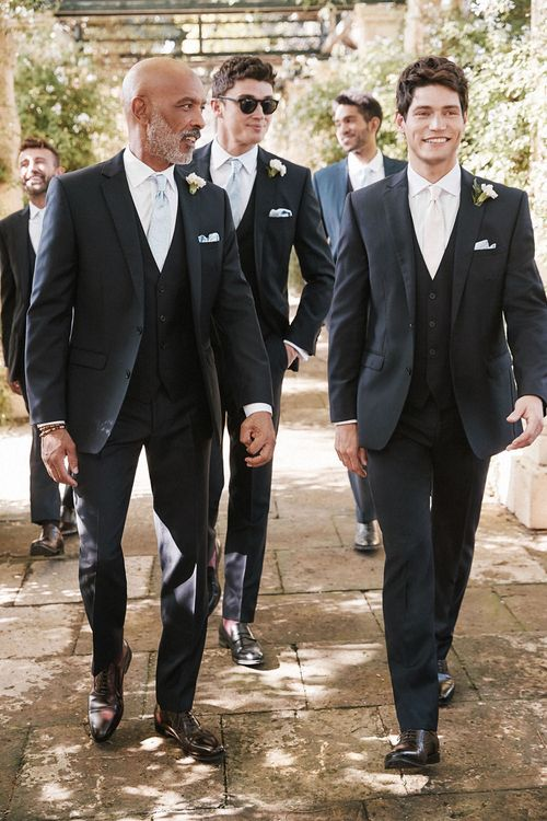 Classic Three Piece Suit For Wedding From Moss Bros.