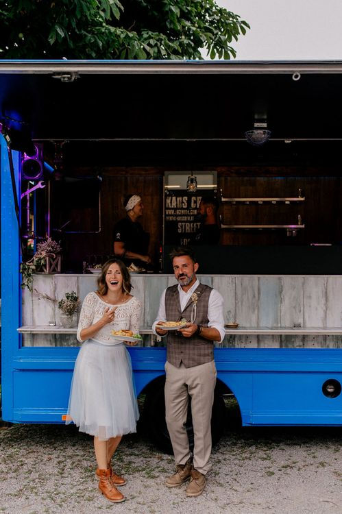 Street food truck wedding breakfast for mountain wedding