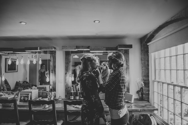 Bridal Preparations | Copper & Greenery Industrial Winter Wedding at The West Mill Derby, Styled by The Vintage House That Could | Rosie Kelly Photography | Jason Lynch Weddings