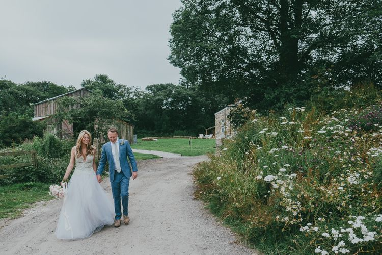Bride In Jane Bourvis Gown // Image By Ross Talling Photography