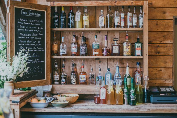 Bar At Nancarrow Farm // Image By Ross Talling Photography