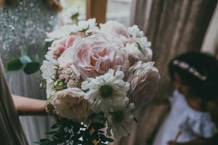 Pastel Wedding Bouquet // Image By Ross Talling Photography