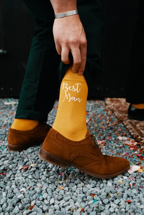 Best Man wedding socks