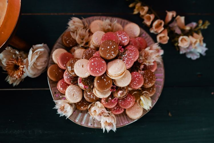 Autumn wedding colours biscuits
