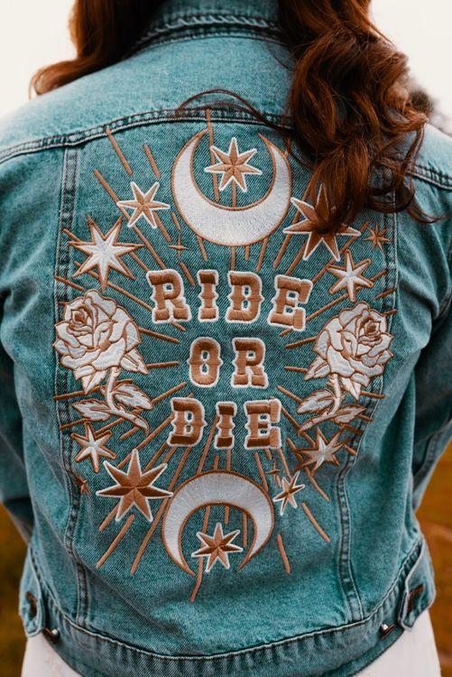 Ride or Die wedding jacket for bride
