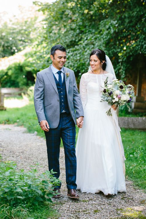Groom In Bespoke Three Piece Suit By Fox Tailoring // Tipi Wedding At Weald Country Park Essex With Bride In Maggie Sottero Planned By Louise Perry With Images From Jasmine Jade Photography