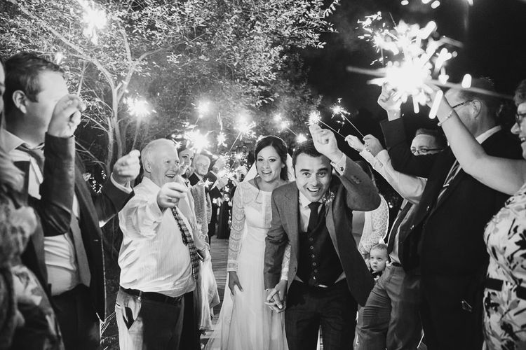 Wedding Sparklers // Tipi Wedding At Weald Country Park Essex With Bride In Maggie Sottero Planned By Louise Perry With Images From Jasmine Jade Photography