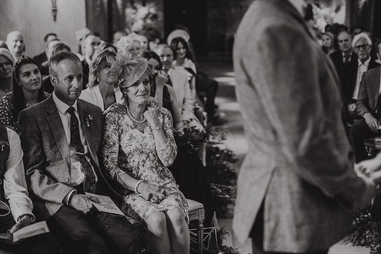 Emotional Mother and Father of The Groom at Wedding Ceremony