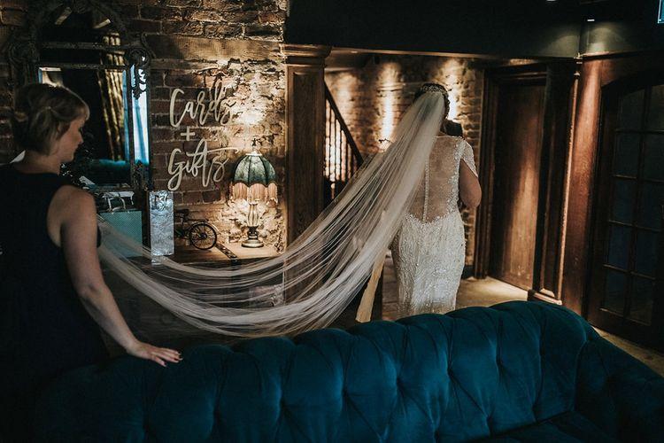 Wedding Ceremony Bridal Entrance in Beaded Jenny Packham Nashville Wedding Dress