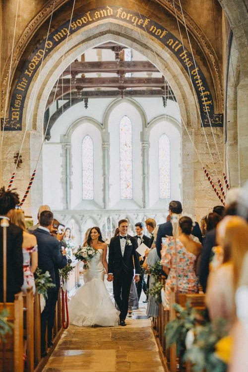 Church wedding ceremony in Sussex