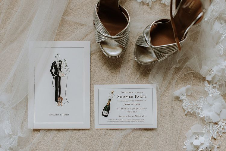 Bride Shoes and Invitation