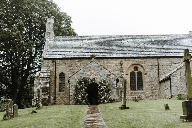 Church Wedding With Flower Decorations