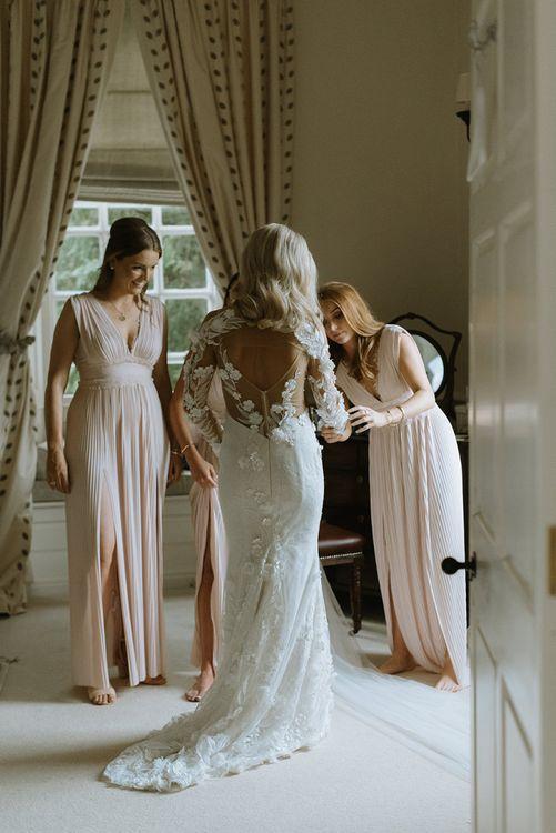 Riki Dalal Applique Dress with Low Back