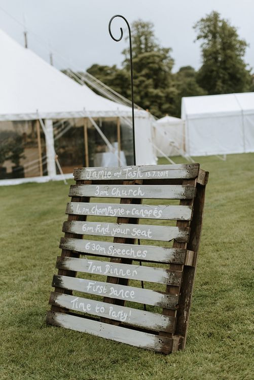 DIY Wedding Order of The Day Sign