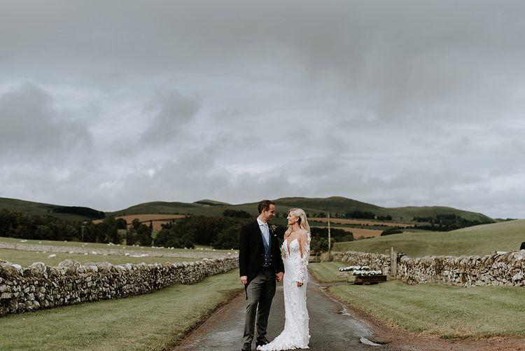 Bride and Groom at Northumberland Wedding