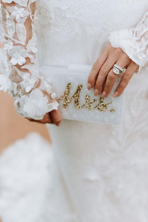 Mrs Detail Clutch Bag for Bride