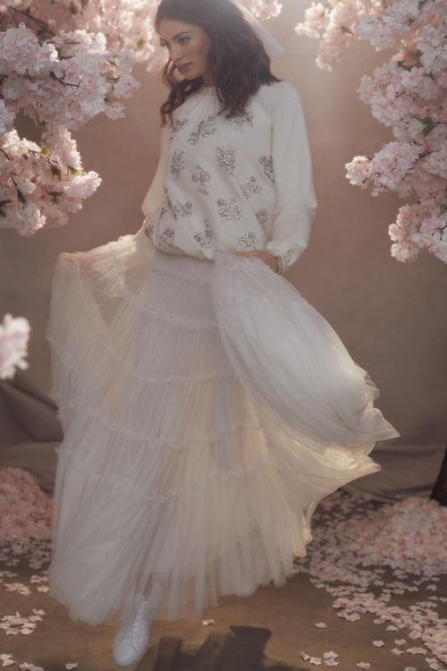 Needle & Thread Layered Tulle Skirt with Sequin Jumper