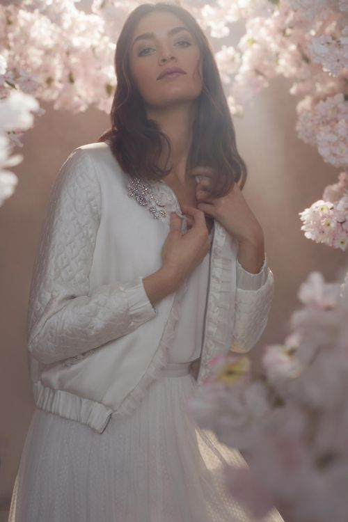 Needle & Thread Tulle Skirt with Satin Wedding Jacket with Embellishment