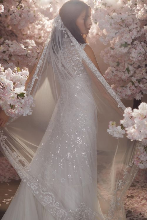 Needle & Thread Tulle Wedding Dress with Sequin Detail and Matching Veil