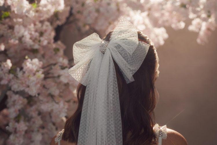 Needle & Thread Polka Dot Veil with Bow Detail