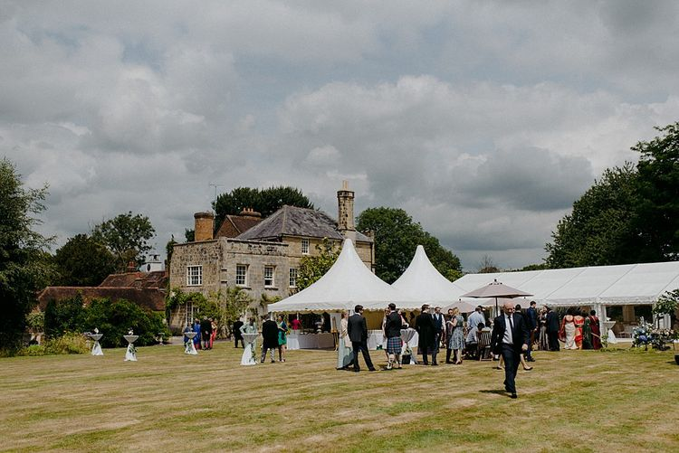 Marquee Outside Country House Wedding