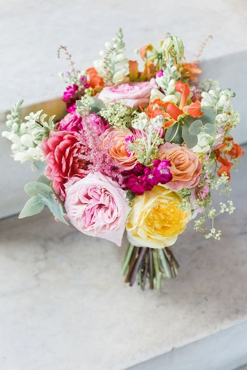 Stunning bright summer bouquet for bride