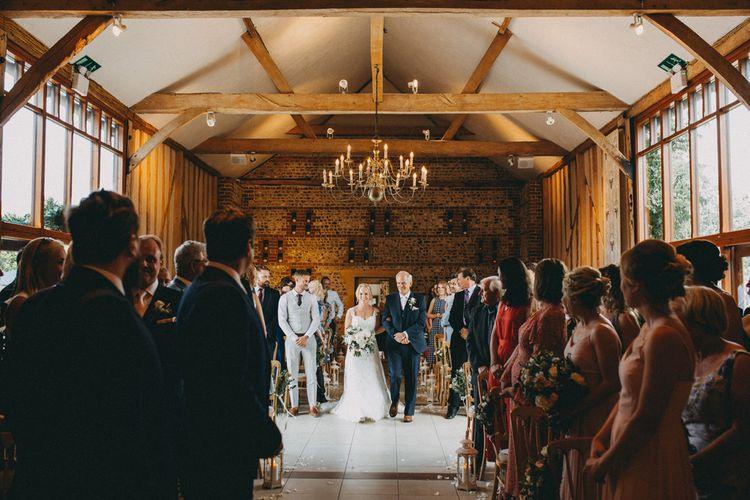Upwaltham Barns wedding ceremony