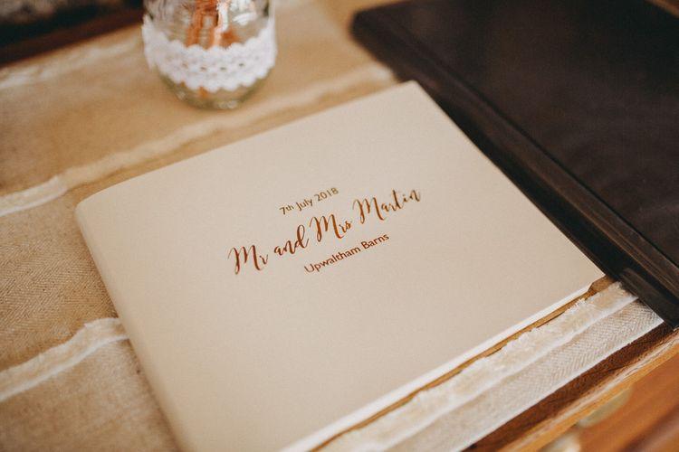 Wedding guestbook for rustic wedding