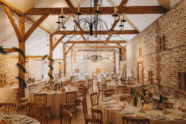Upwaltham Barns wedding breakfast