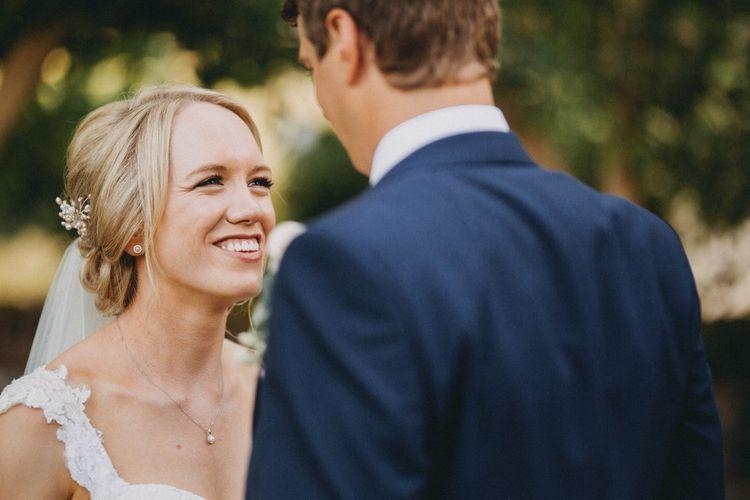 Bride and groom at Upwaltham Barns wedding