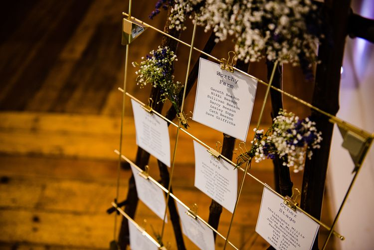 Simple Table Plan For Wedding // Pennard House Wedding With Outdoor Ceremony Bride In Phase Eight Groom In Savile Row Suit And Bridesmaids In Ghost Images By Jonny Barratt Photography
