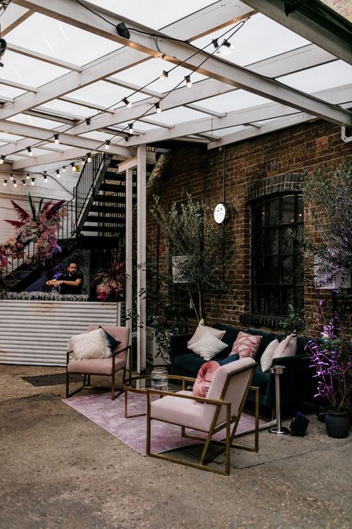 Seating Area at Loft Studio Wedding Venue in London