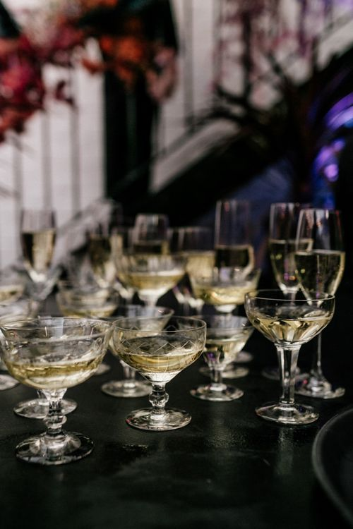 Champagne Reception in Coupe Glasses