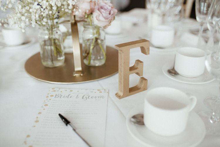 Wedding table decor at fusion wedding