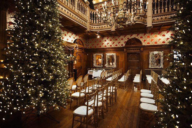 Ceremony Room at Thornbridge Hall Wedding Venue in Derbyshire