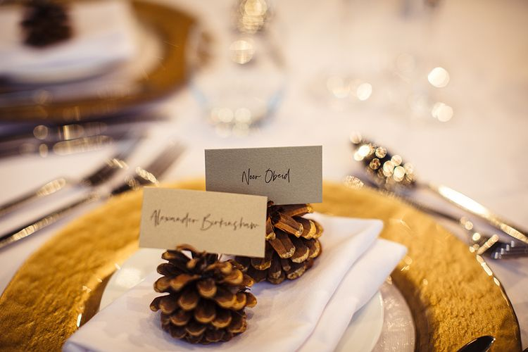 Pine Cone Name Place Settings
