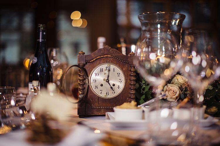 Antique Clock Table Centrepiece