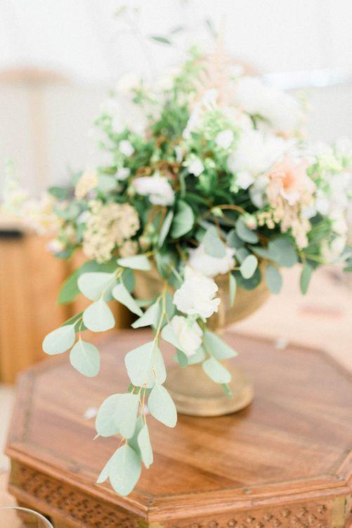 Eucalyptus & Floral Wedding Arrangement