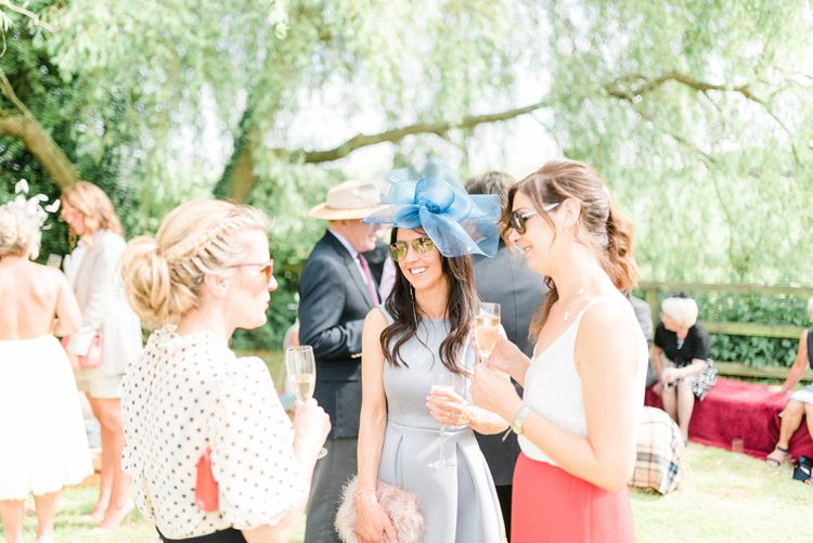 Wedding Guests Enjoying the Drinks Reception