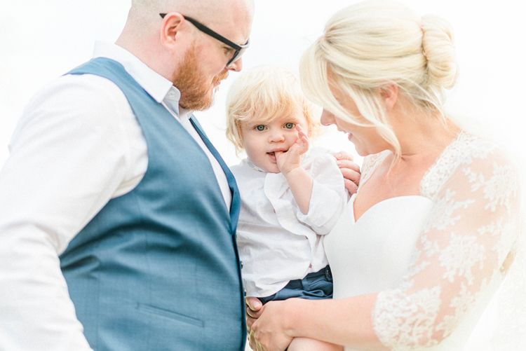 Family Portrait of Bride, Groom and their Son