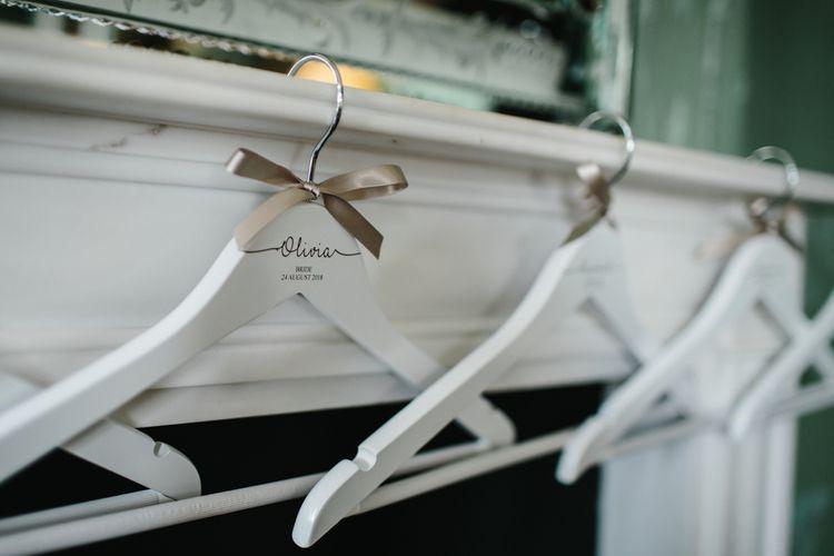 White Personalised Bridesmaid Dress Hangers