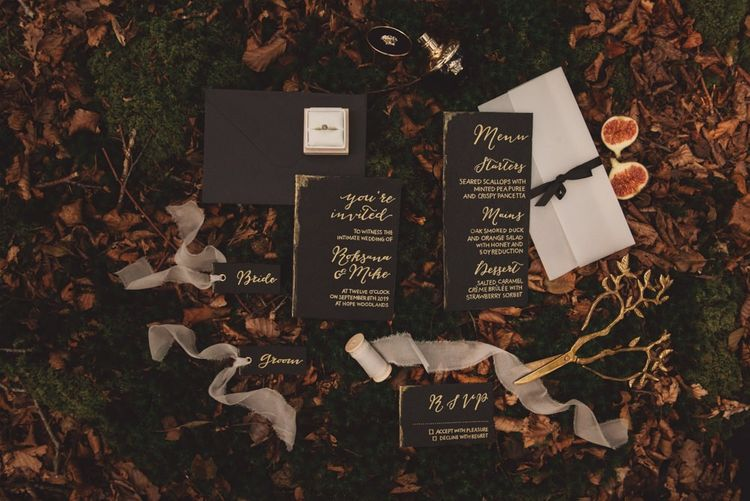 Handmade Wedding Stationery Suite with Calligraphy Writing