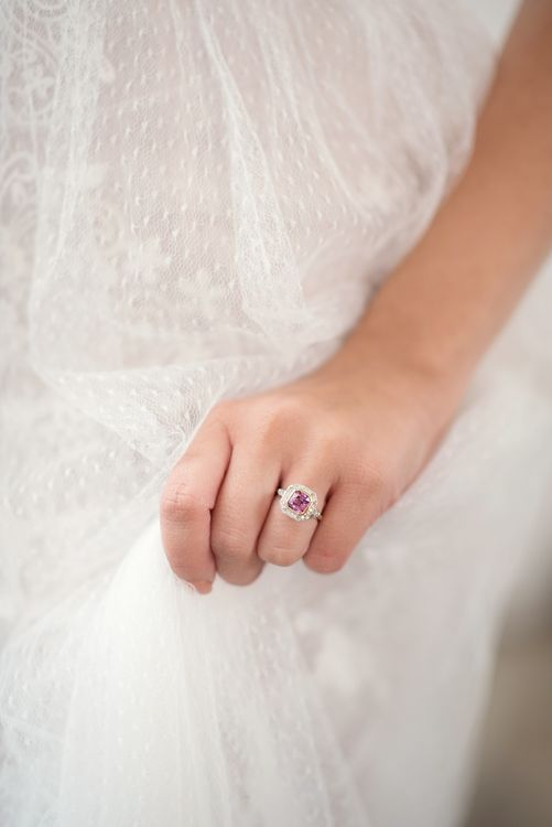 London Victorian Ring Co. | Bride in Nissa Now  from Chic Nostalgia | Super Luxe White, Grey & Gold Elegant Wedding Inspiration at Orangery, Holland Park, Kensington, London | Planned & Style day The Events Designers | Eva Tarnok Photography