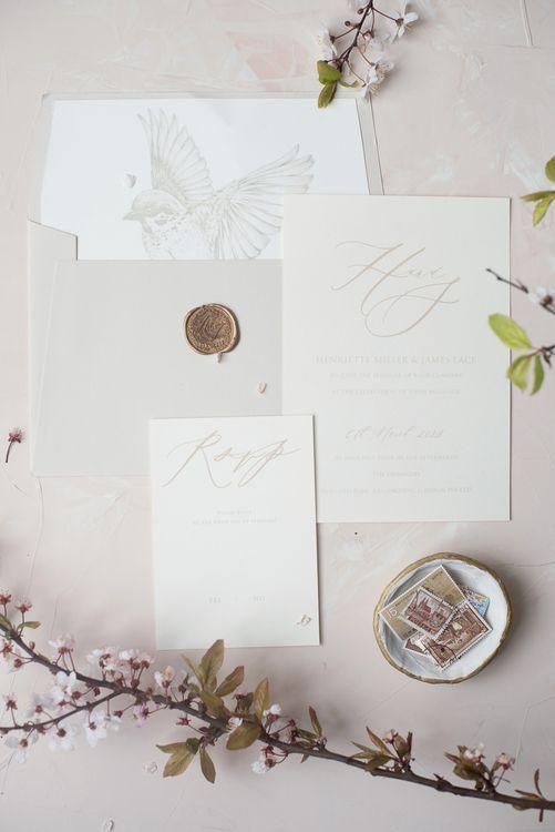 Elmo Paper Stories Wedding Stationery | Super Luxe White, Grey & Gold Elegant Wedding Inspiration at Orangery, Holland Park, Kensington, London | Planned & Style day The Events Designers | Eva Tarnok Photography